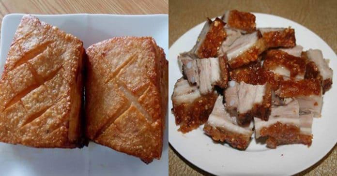Cách làm heo quay giòn bì nhưng thịt không hề bị khô chỉ bằng chảo rán