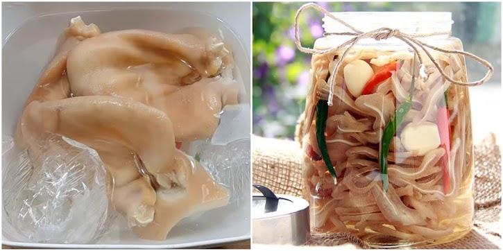 Món ngon dễ làm ngày Tết: Tai heo ngâm giấm cay giòn, ăn cùng củ kiệu bánh chưng là nhất